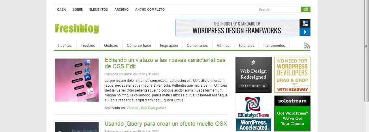 Plantillas gratuitas wordpress