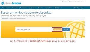nombre de dominio registrado